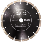 A Tool-Co Segmented Black Diamond Blade. Click to go to this product.