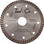 A Tool-Co Turbo Rim Diamond Blade. Click to go to this product.