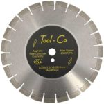 Tool-Co Asphalt / New Concrete Yellow - Segmented - 350 x 3.2 x 15 x 25.4mm