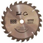 Tool-Co TCT Wood Blades - 160 x 20 x 16mm x 40T
