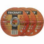 TriCraft Metal Abrasive Cutting Discs - 115 x 2.4 x 22.23mm - 10pack/box of 60