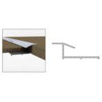 Carpet to Tile - Aluminium - 1m