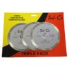 Tool-Co Tri-Pack Diamond Blades - Continuous Rim - 115 x 2 x 7 x 22.23mm