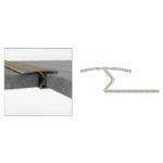 One Sided Round Edge - Aluminium - 1m