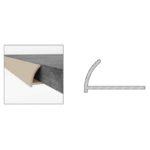 PVC Round Edge - White - 7mm x 2.4m