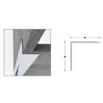 Retro Corner Protector - Aluminium - 50mm x 50mm x 2mm x 3m