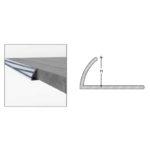 Round Egde Tile Trims - Aluminium - 8mm x 2.5m