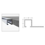 Square Edge Tile Trims - aluminium - 12mm-x-10mm-x-2-5m