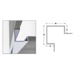 Tile in Corner Protector - 430 Grade Polished Stainless Steel - 30mm x 30mm x 10mm x 2.5m