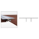 Wood Expansion Cover Strip - Aluminium - 33mm x 2.5m