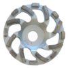 Tool-Co Segmented Cup Grinder Standard - Med Floor Silver - 125mm x 22.23mm x 25#