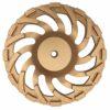 Tool-Co Segmented Cup Grinder Premium 180mm - Med Floor Gold - 180mm x M14 x 25#