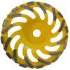Tool-Co Segmented Cup Grinder Standard - Med Floor Yellow - 180mm x 22.23mm x 25#