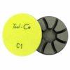 Tool-Co Diamond Concrete Polishing Pads - 80mm x C1 - Hard Concrete - Dry/Wet