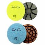 Tool-Co Diamond Concrete Polishing Pads - 80mm x C2 - Hard Concrete - Dry/Wet