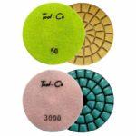 Tool-Co Diamond Marble Polishing Pads - 100 x 2mm x 100#