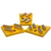 Tool-Co Diamond Wedge Set - Yellow (Medium Hard Floors) 25# 12 Segment