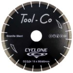 Tool-Co Silent Centre Cyclone Granite - 350 x 15 x 50/60mm