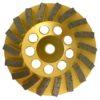 Tool-Co Segmented Cup Grinder Premium 115mm - Med Floor Gold - 115mm x M14 x 25#
