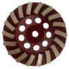 Tool-Co Segmented Cup Grinder Premium 115mm - Med Floor Brown - 115mm x M14 x 80#