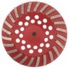 Tool-Co Segmented Cup Grinder Premium 180mm - Med Floor Red - 180mm x M14 x 16#