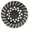 Tool-Co Segmented Cup Grinder Premium 180mm - Med Floor Black - 180mm x M14 x 120#