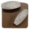 Diamond Grinding Plates - Medium Floor 80# - Brown