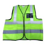 Safety Vest - High Visibility Zip Up Vest - Large