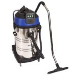 80L Stainless Steel Drum Vacuum - Wet/Dry 3 Motor - Fine Dust Filter Bag